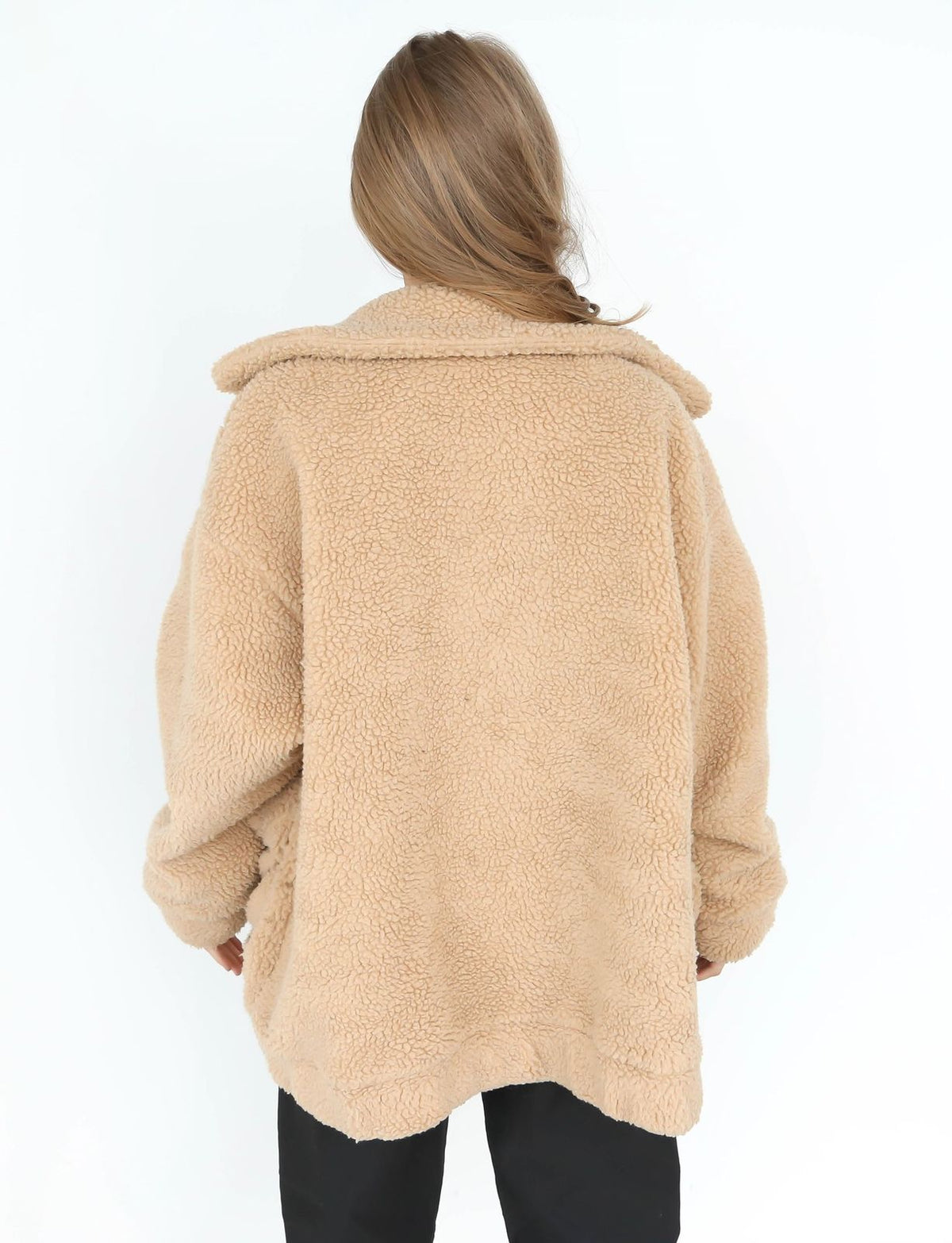 Women's Ladies Long Sleeve Oversized Loose Knitted Sweater Jumper Cardigan Cotton Outwear Black Khaki