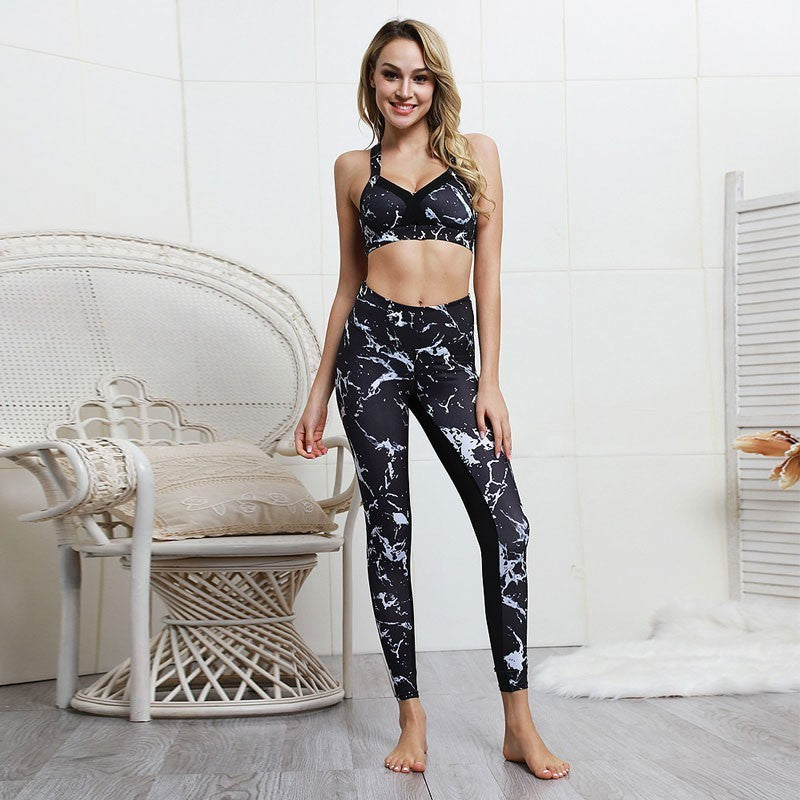 Yoga Set Running Women Fitness Gym Tracksuit High Waist Sport Suit 2 Pcs Push Up Yoga Leggings Padded Sports Bra Sport Clothing