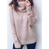 ZOGAA Women's Sweaters Winter Solid Casual Turtleneck Sweaters Thin Office Lady Jumper Knitted Sweater Warm Pullovers Tops 5XL