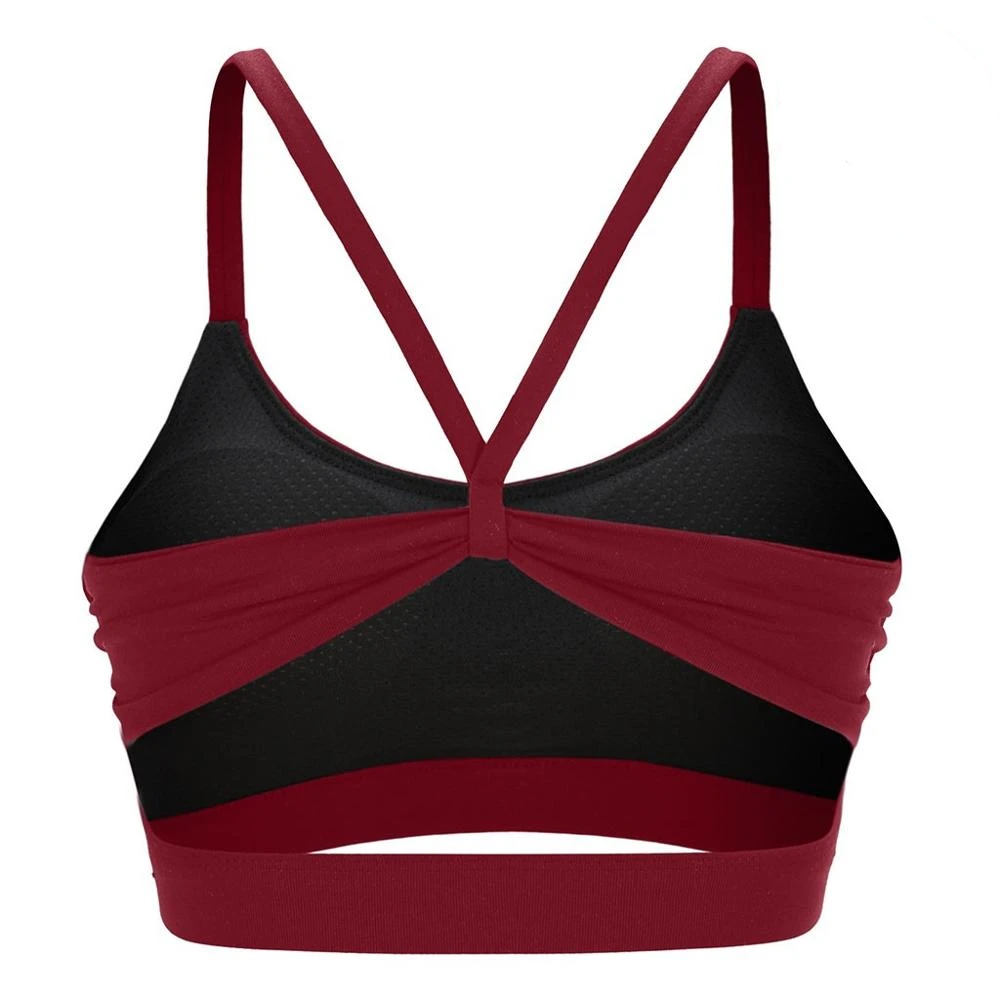 Solid Yoga Top Sports Bra Women Tank Crop Top Wire Fitness Push up Gym Shockproof Shirt Girls Running Dancing Fast Dry Vest
