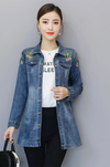 Spring Winter Women's Denim Jacket Turn down Collar Korean Style Casual Shorts Tops Female Clothing C80526L