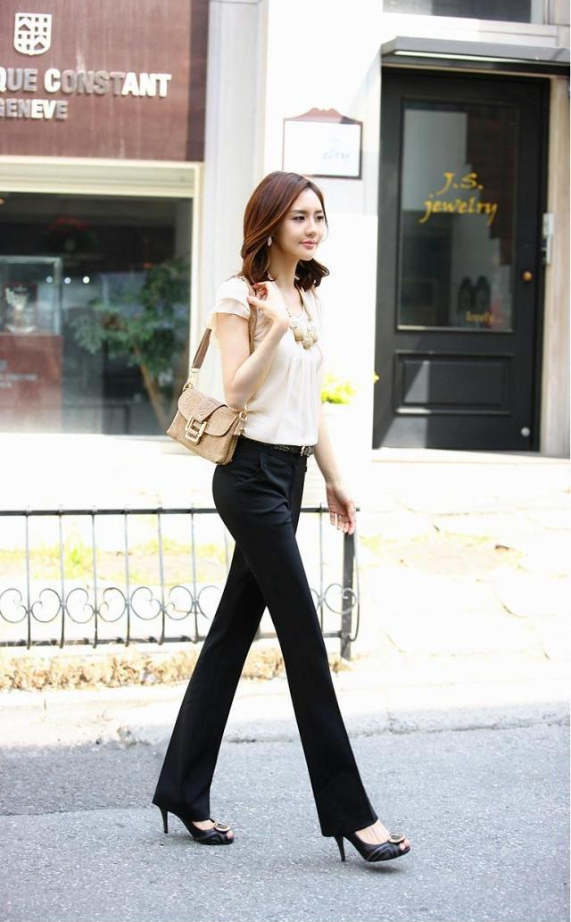 Trousers Women Pants Spring Summer Casual OL Formal Harem Pants Women Office Dress Pants Flare Trousers