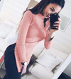 Autumn Women Casual Turtleneck Sweater Design Elegant Women Tops Split Pullovers Sweater Solid Color