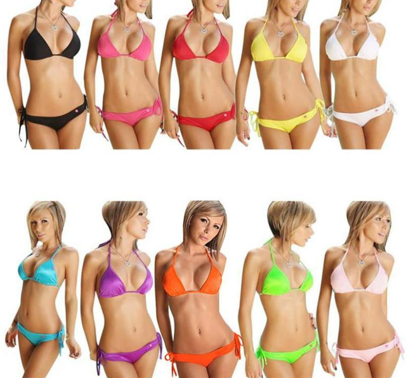 Women Bikini Set Push-up Bandeau Bra Bandage Swimsuit Bathing Suit Swimwear-SWIMWEAR-SheSimplyShops