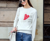 European Fall Winer Women Star Celebrity Heart Flowers Sweet knitting sweater Warm Casual tops C 009