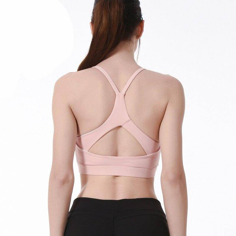 Plus Size Sports Bra for Women Solid Yoga Tank Crop Top Fitness Push up Gym Shockproof Shirt Girls Running Jogging Fast Dry Vest