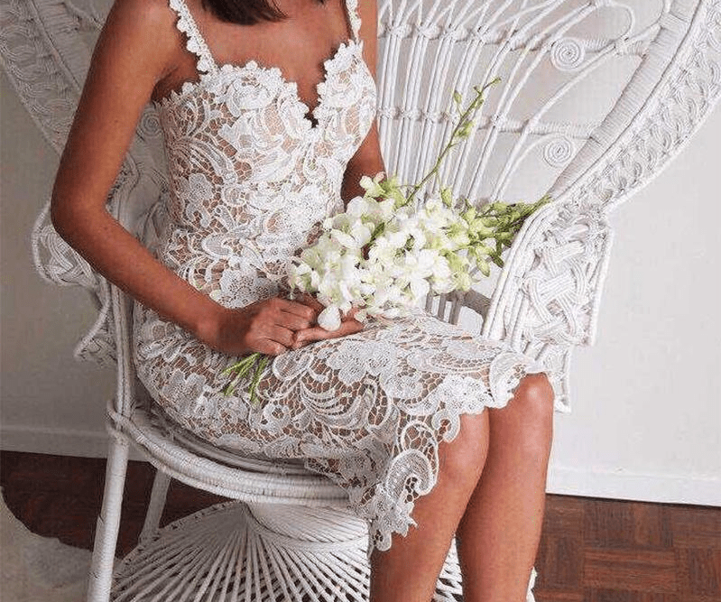 New Fashion Hollow Out Women Summer Dress Sexy Embroidery Lace Dresses Body con Club Party Midi Dress-SheSimplyShops