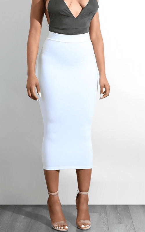 2 Layers Body con Midi Skirt Sexy High Waist Long Skirt Maxi Pencil Skirt Summer Skirts Women Midi-SheSimplyShops