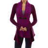 Uguest Autumn And Winter Cardigan Women Sweater Loose Coat With Belt Elegant
