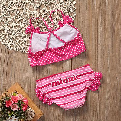 Girls children Kids Two-piece Swimming Top Pant Swimwear Bathing Suit Swimsuit Costumes-PANTS-SheSimplyShops