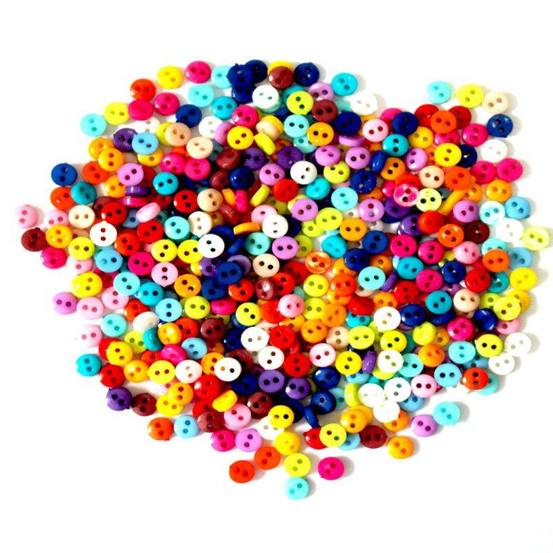 600Pcs lot 6mm Round Resin Mini Tiny Buttons Sewing Tools Decorative Button Scrapbooking Garment DIY Apparel Accessories-ACCESSORIES-SheSimplyShops