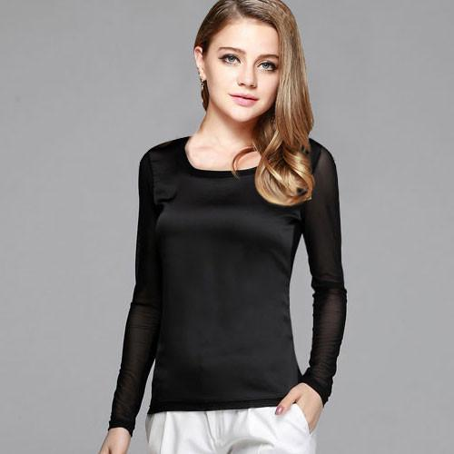 Women's shirts Blouses long sleeve formal chiffon blouses white black 9 clolor silk tops and tees slim Y046-Blouse-SheSimplyShops