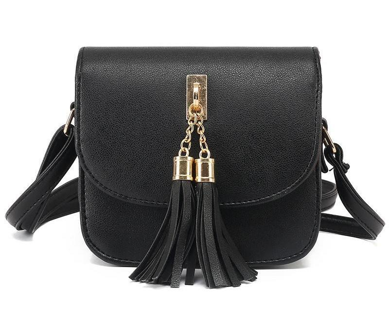 SheIn Designer Handbags High Quality Womens Fashion PU Adjustable Strap With Tassel Embellished Cute Small Flap Bag-BAGS-SheSimplyShops
