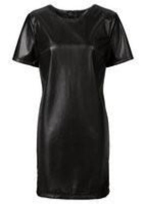 KAIGEnina Fashion Women Bandage Dress Sumem dress Leather Short Sleeve Sexy Party Bodycon Women's Clubwear-Dress-SheSimplyShops