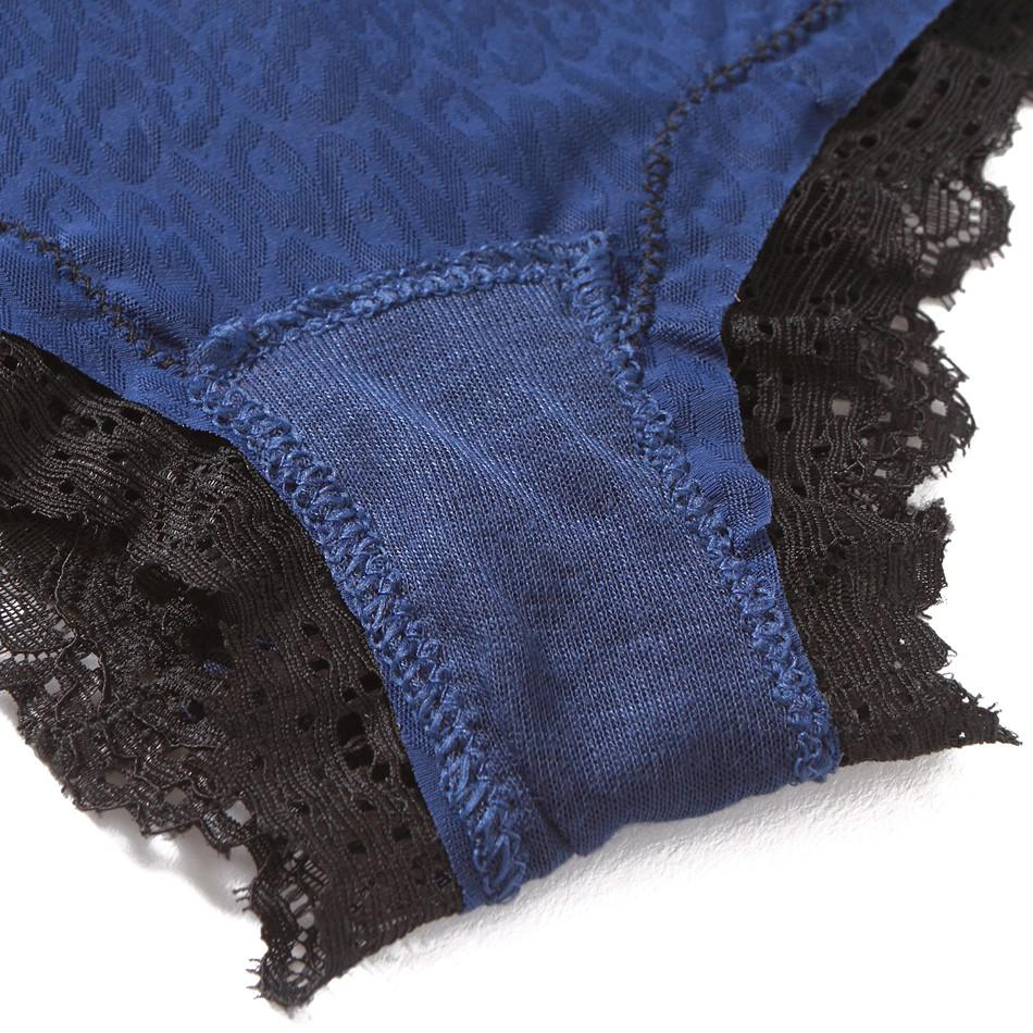 Women's Sexy Panties Ladies underwear lace Knickers for women traceless cotton briefs fashion Blue color-PANTS-SheSimplyShops