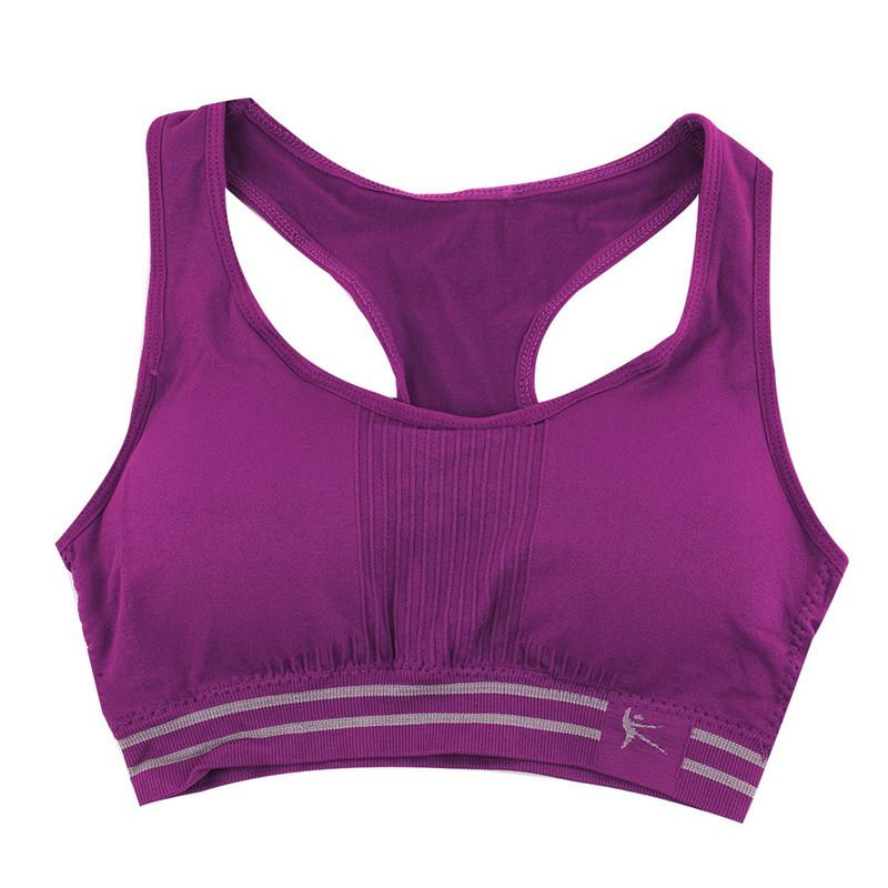 Summer Style Women Cotton Stretch Athletic Vest Gym Fitness Sports Bra no rims Full Cup padded bras colorful plus size tops-ACTIVEWEAR-SheSimplyShops