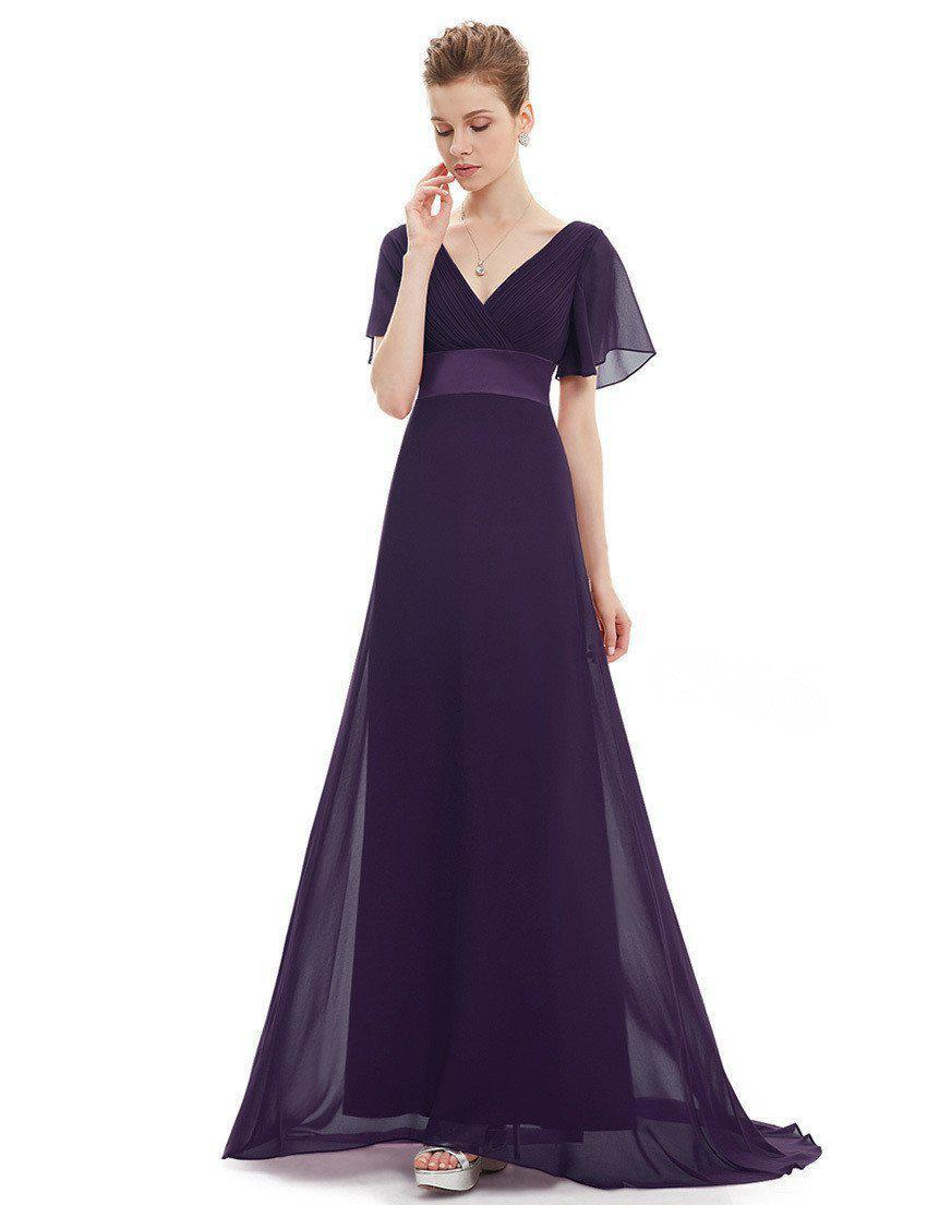 Elegant Padded Trailing Long Gown-Dress-SheSimplyShops