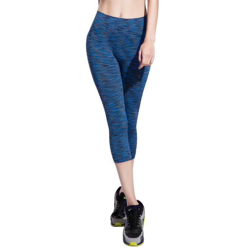 Women's Yoga Pants Spring Summer Satin Dye Fitness Sports Cropped Tight Breathable Quick Dry 6 Colors Running Leggings-ACTIVEWEAR-SheSimplyShops