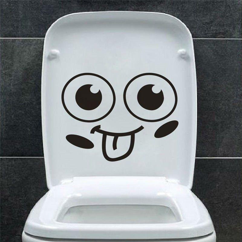Big mouth toilet stickers wall decorations 342. diy vinyl adesivos de paredes home decal mual art waterproof posters paper-SheSimplyShops