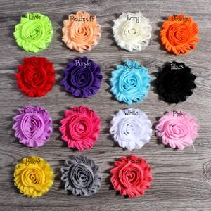 "30pcs lot 2.6"" Shabby Chiffon Flowers Hair Accessories-ACCESSORIES-SheSimplyShops"