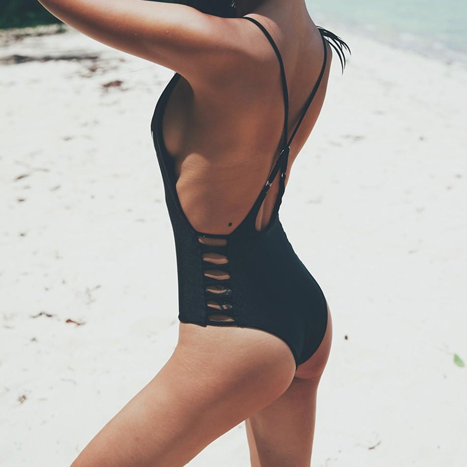 Swimwear Women One Piece Swimsuit Priented Trikini Biquini Sexy Push Up Beach Wear Cut Out Bathing Suit Monokini Bodysuit-PANTS-SheSimplyShops