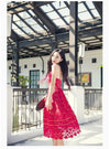 JAZZEVAR new SS Socialite elegant lace dress women's red Classic Embroidery Hollow Out party dress sexy dress good quality-Dress-SheSimplyShops