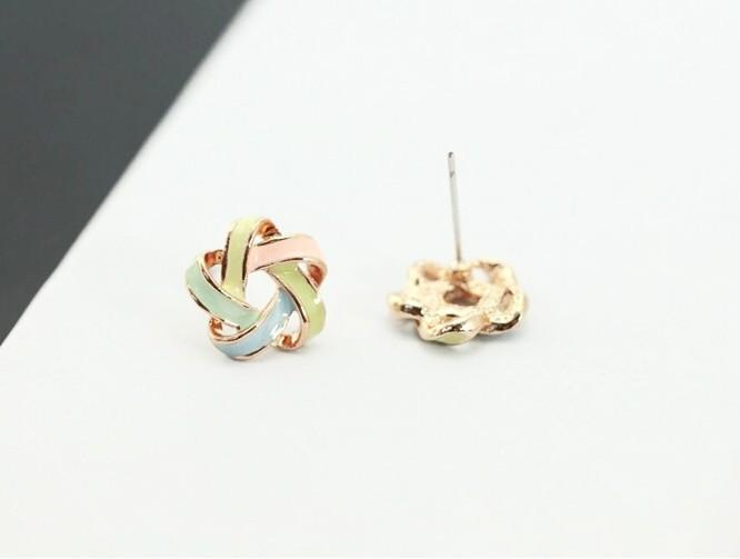 Novel Multi Color Ear Studs-EARRINGS-SheSimplyShops