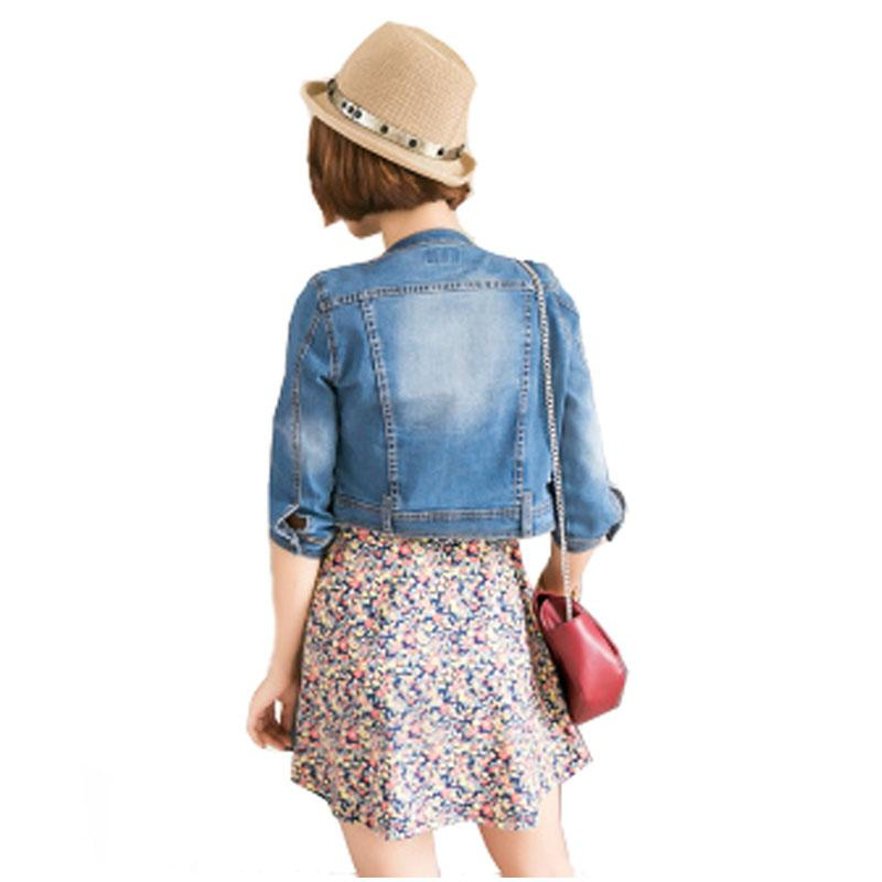New Arrival spring /Antumn short denim jackets vintage casual coat women's denim jacket for outerwear jeans Female-JEANS-SheSimplyShops