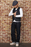 Bronson Denim Magic Pocket tool vest men's tide vest pocket Vests-Coats & Jackets-SheSimplyShops