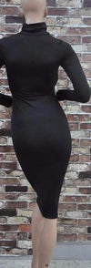 Long Sleeve Turtleneck Sexy Club Bodycon-Dress-SheSimplyShops
