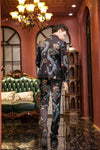 Luxury Dragon Print 3 Pieces Suit-PANTS-SheSimplyShops