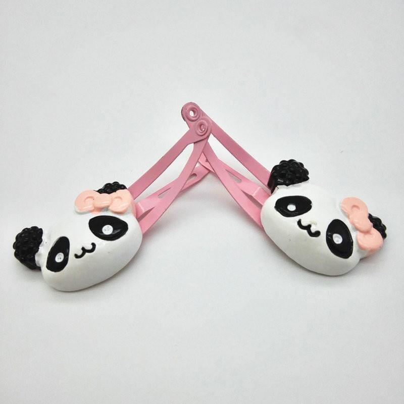 4PCS set New Cute Baby children panda Hairpins Girls Elastic hair bands Handmade ponytail holder sets Hair Accessories-ACCESSORIES-SheSimplyShops