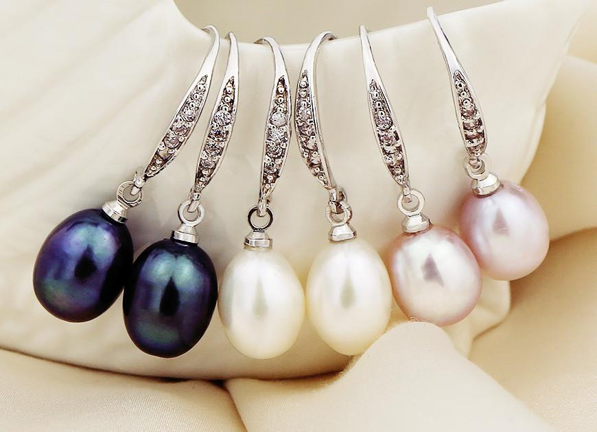 Natural Freshwater Pearl Earrings, New European Retro Drop Earrings For Women-EARRINGS-SheSimplyShops