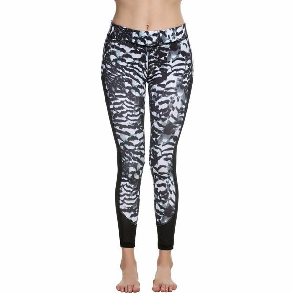 Womens Workout Leggings Sexy Fitness leggings Print Mesh Patchwork Jegging leggings Slim Fit High Waist Pant-PANTS-SheSimplyShops