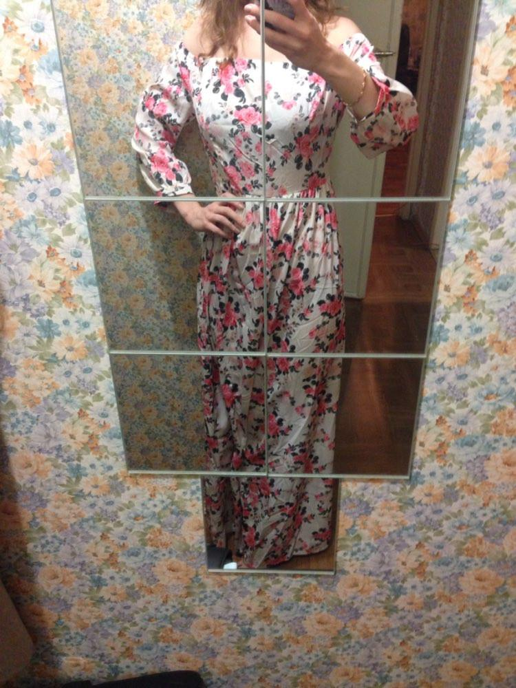 New Women Summer Maxi Dress O-neck Three Quarter Sleeve Floral Print Party Elegant Long Dress vestidos longos-Dress-SheSimplyShops