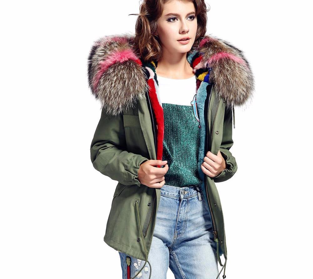 Fur collar hooded detachable winter jacket-Coats & Jackets-SheSimplyShops