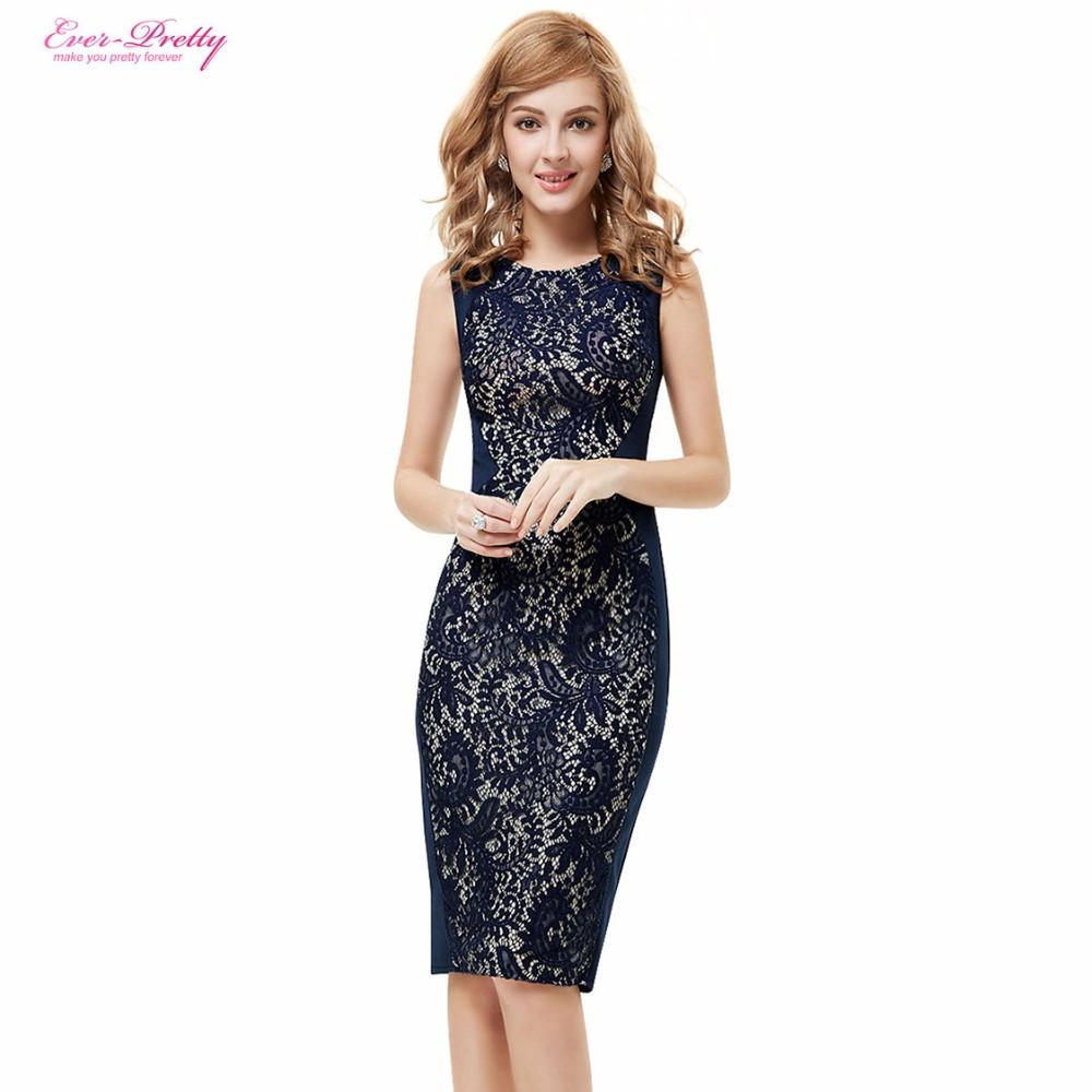 Lace Cocktail Dresses Ever Pretty Charming Stylish Knee Length Summer Party A-line Sleeveless HE05336 Cocktail Dress-Dress-SheSimplyShops