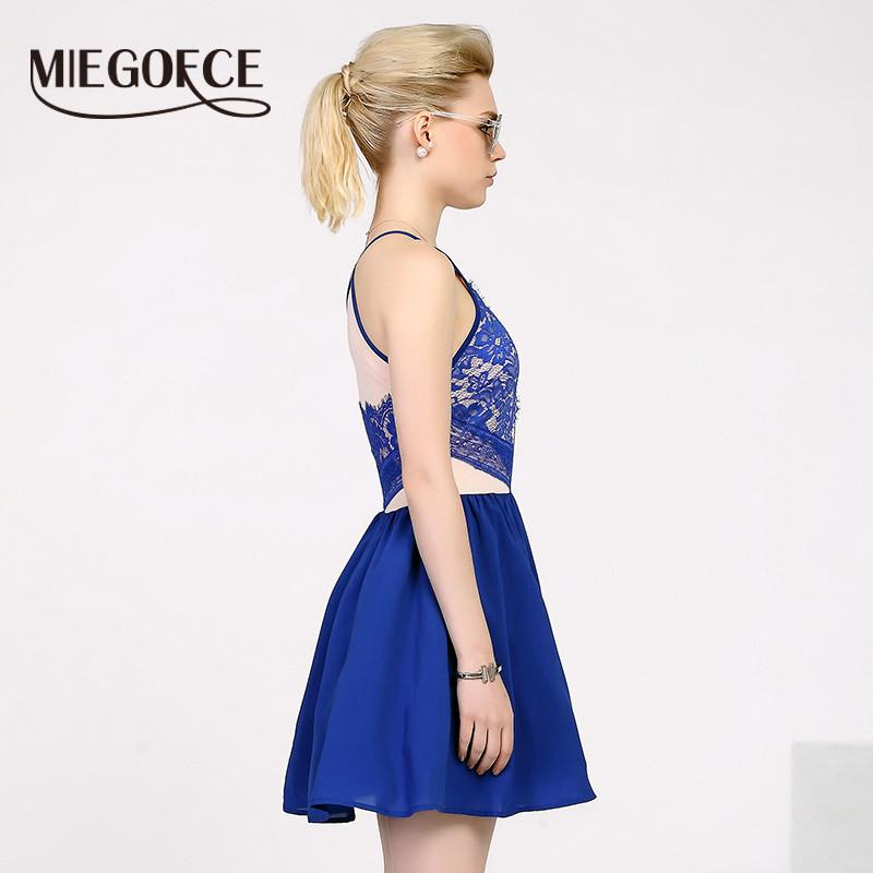 MIEGOFCE New summer women dresses silhouette A-line sleeveless lace hollow evening party dress spaghetti strap sundresses-Dress-SheSimplyShops