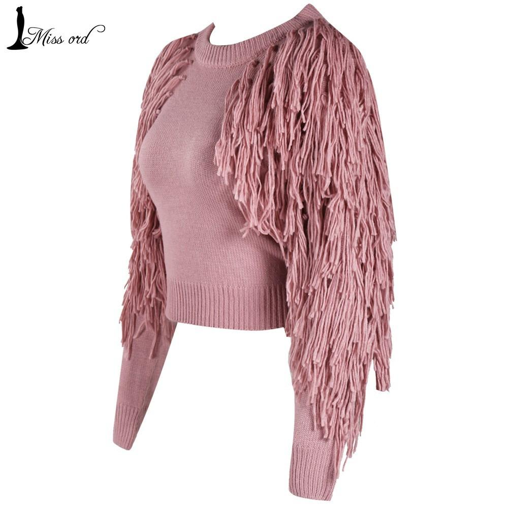 Missord Sexy O-neck long sleeve tassel sweater FT4178-SWEATERS + CARDIGANS-SheSimplyShops