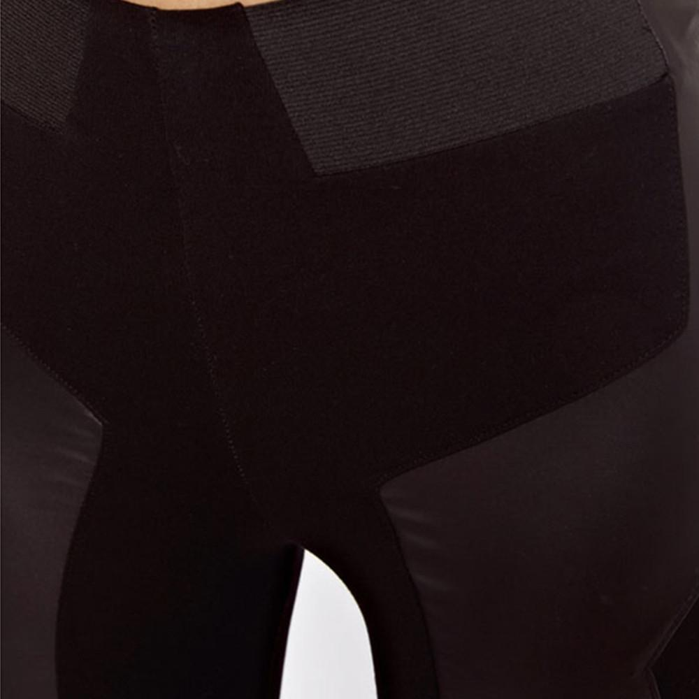 HDY Haoduoyi Solid Black Fashion Women Pants PU Stitch Sexy Slim Low Waist Pencil Pants Casual Female Trousers For Women-PANTS-SheSimplyShops