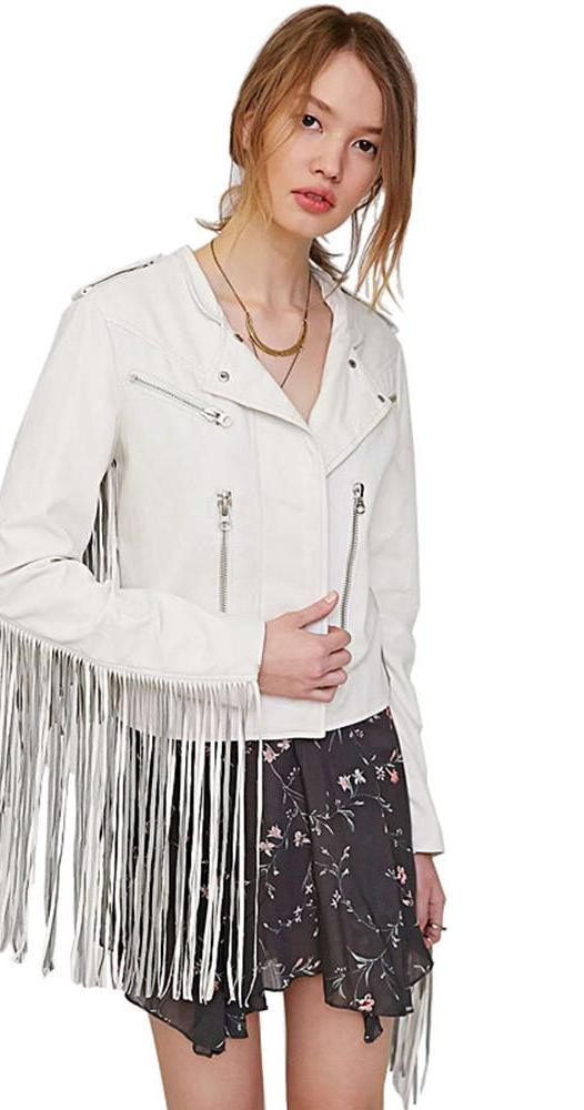 HDY Haoduoyi Long Sleeve Fashion Women Outwears Sexy Tassel Zipper Slim Casual Short Jackets Winter Punk Basic Bomber Jackets-Coats & Jackets-SheSimplyShops