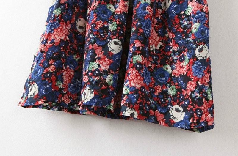New Fashion Women Summer Tropical Dress Floral Print Vestidos Half Sleeve Casual Dresses Women Plus Size-Dress-SheSimplyShops