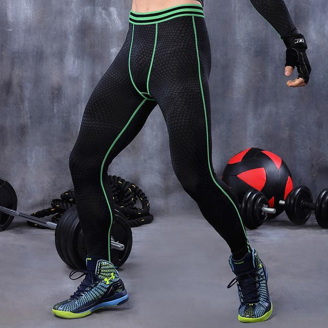 Men compression pants base layer tights exercise fitness long pants trousers-PANTS-SheSimplyShops