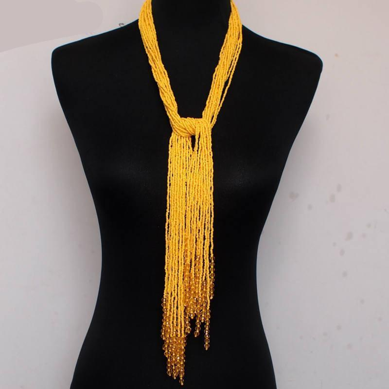 Stylish Long Bead Tassels Necklaces-NECKLACES-SheSimplyShops