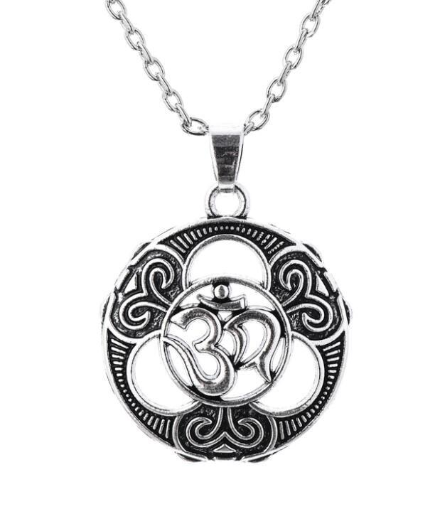 Gothic Om Hindu and Irish Knot Yoga Indian Jewelry Vintage Accessories Mandala Pendant Necklace Women-NECKLACES-SheSimplyShops