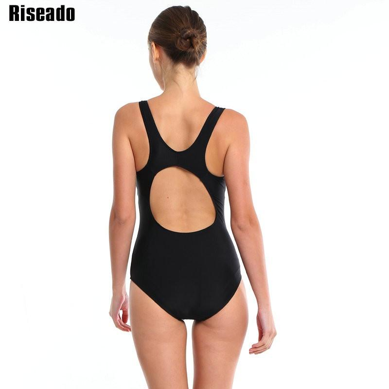 Riseado Sports Suits Swimwear Women One Piece Swimsuit Striped Backless Padded Swimming New Bathing Suit-ACTIVEWEAR-SheSimplyShops