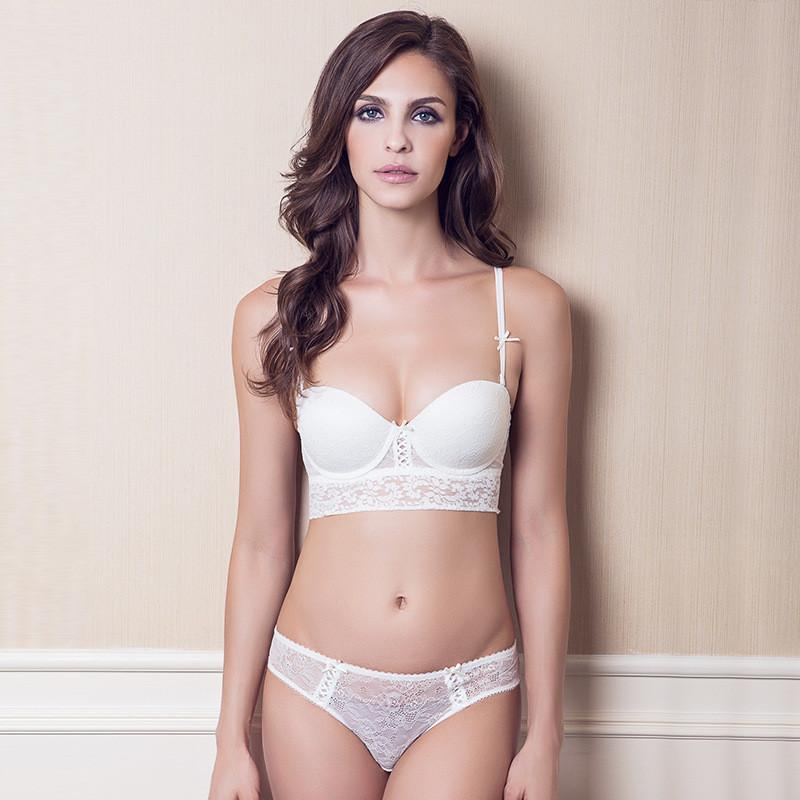 New Women's Elegant Lace Half Cup Push-Up Bra Set-SheSimplyShops