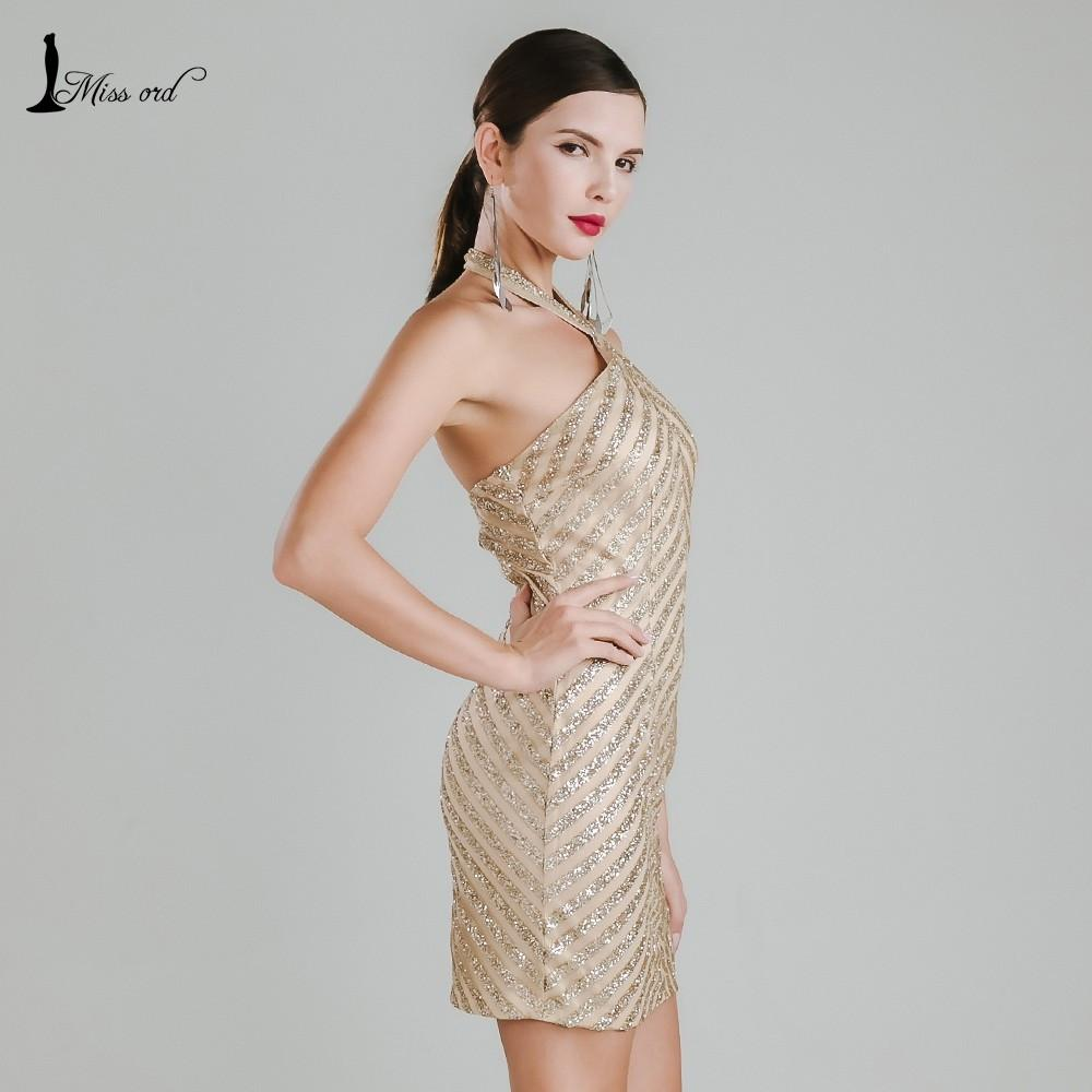 Missord Sexy halter sleeveless party dress sequin dress FT4950-Dress-SheSimplyShops