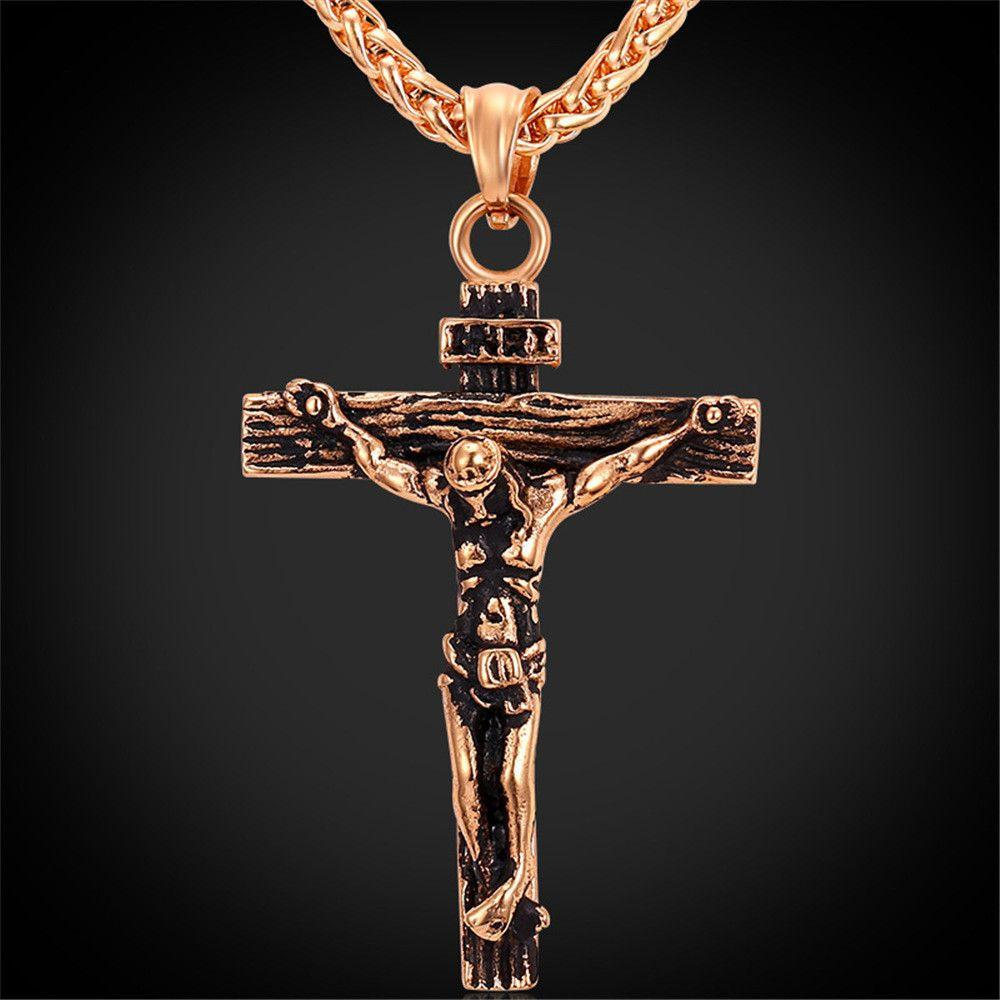 Cross Stainless Steel Pendant & Necklace-NECKLACES-SheSimplyShops