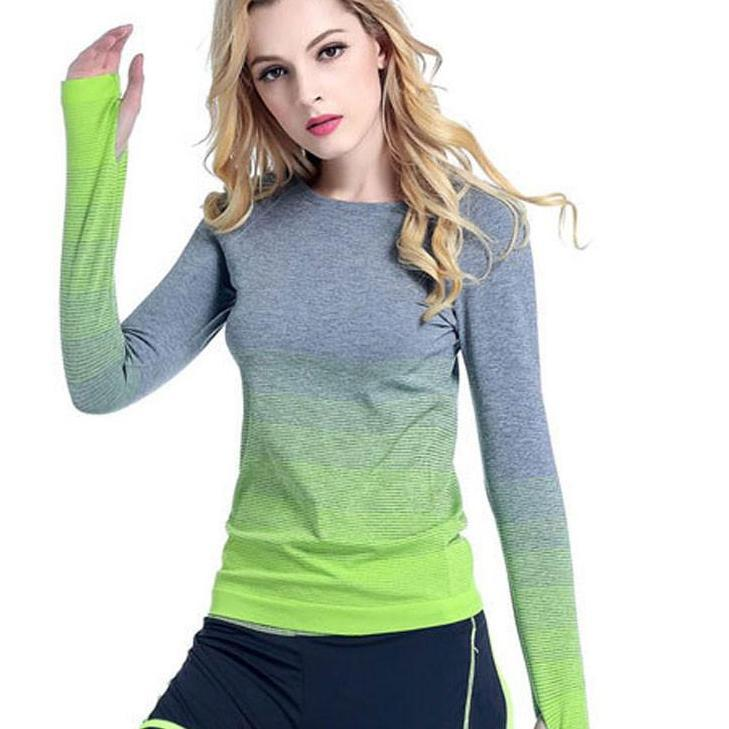 Heal Orange Women Yoga Shirts Long Sleeve Sweatshirt Quick Dry Sport Jacket For Fitness Gym Shirt Female Jogging Dry Fit Women-ACTIVEWEAR-SheSimplyShops